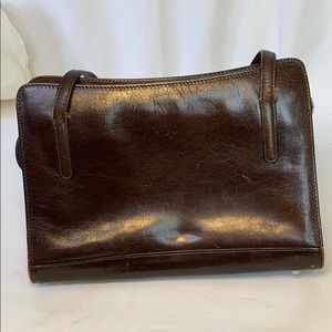 Monsac Brown Leather Purse Satchel